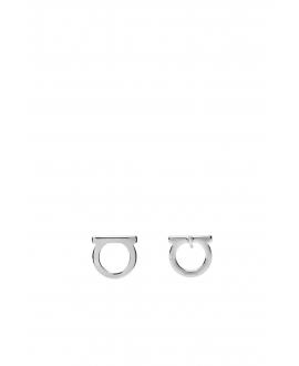 銀色標誌耳環